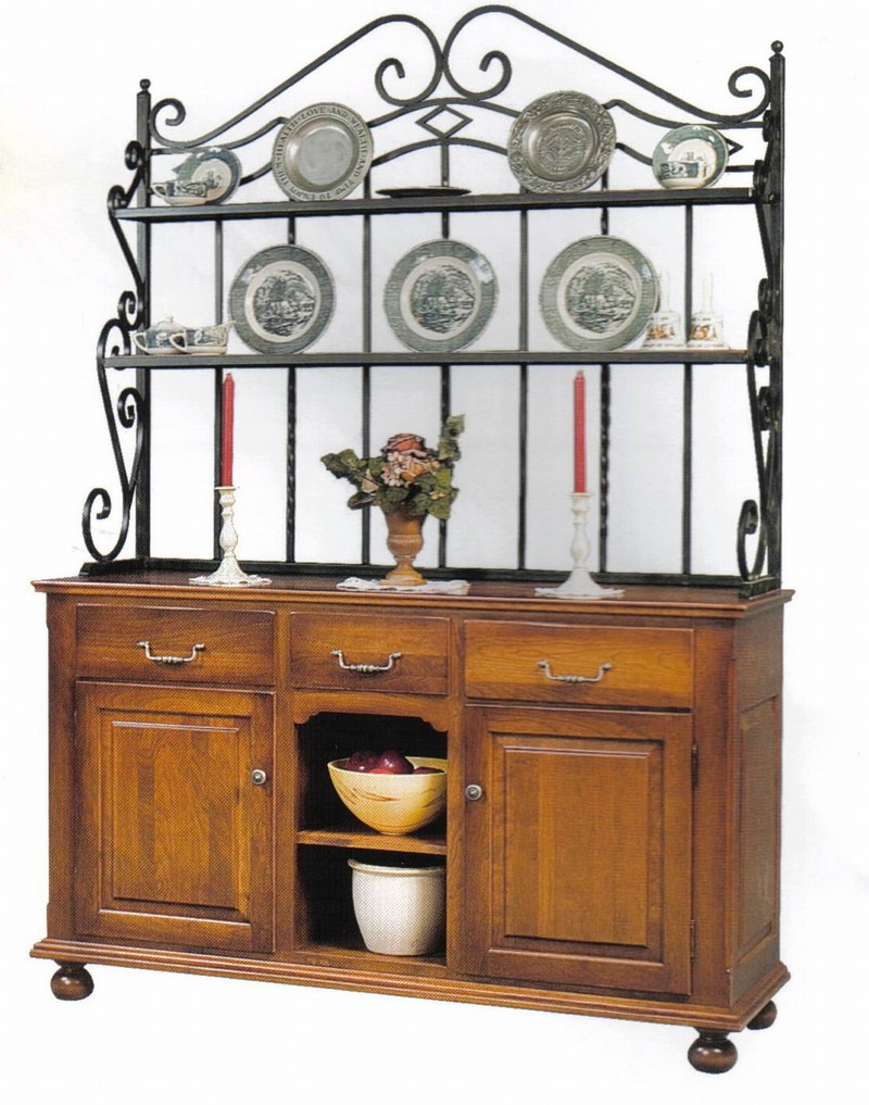 Buffet With Bakers Rack