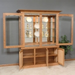 Buffet Hutch with sliding glass doors