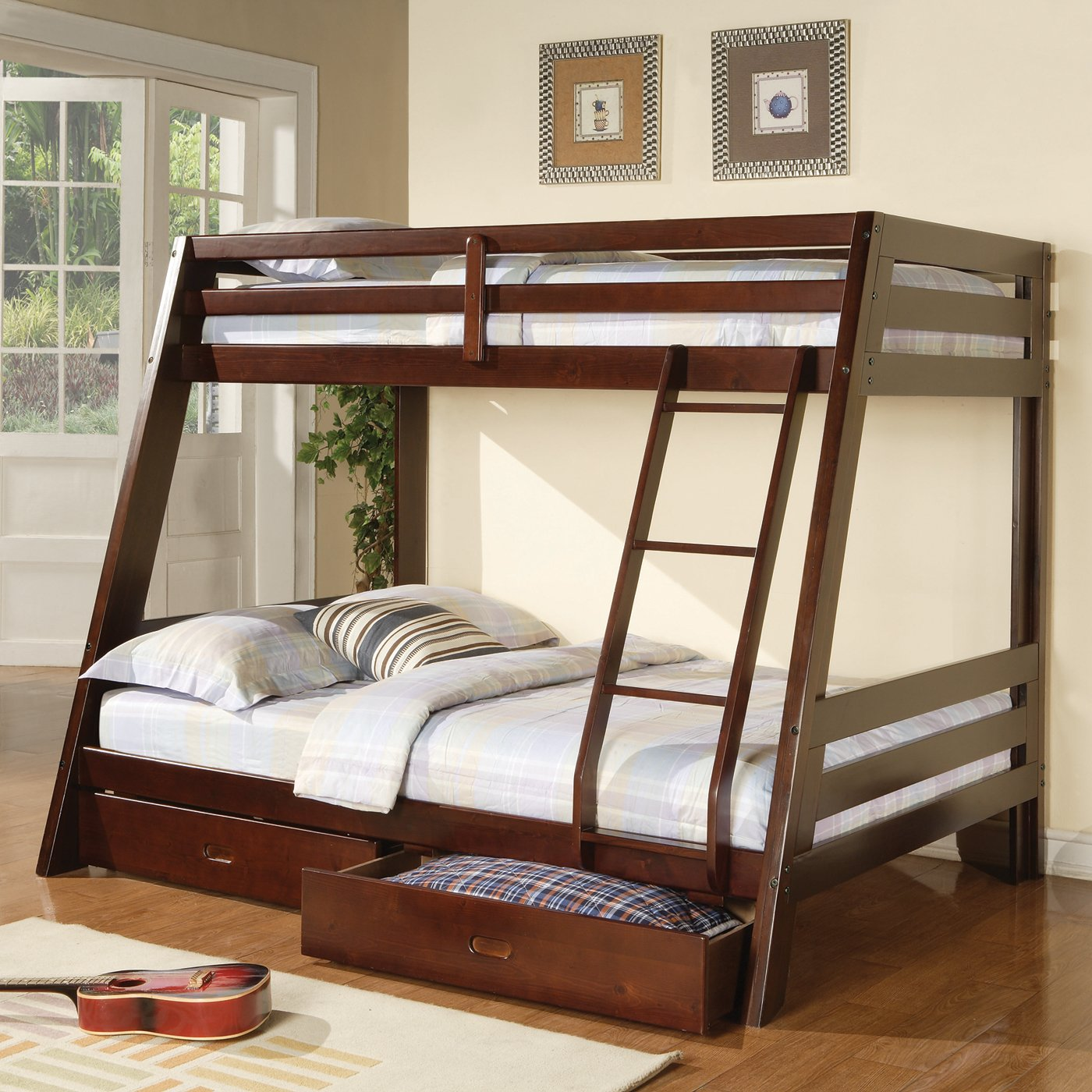 Queen bunk beds for sale queen murphy beds for sale for Queen bunk bed with desk