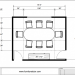 Dining Room Racetrack Table Diagram B