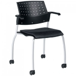 Sonic stacking chair on casters