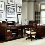 classic-and-glossy-cherry-wood-office-desk-wood-veneer-office-regarding-luxury-and-charming-home-office-with-classic-decoration-ideas